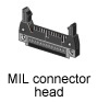 MIL connector head