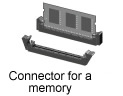 Connector for a memory