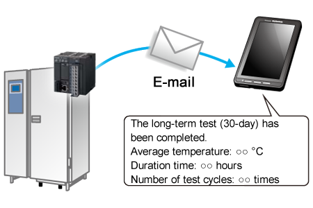 Information on the equipment's operational state along with daily and emergency reports are sent to users by e-mail.