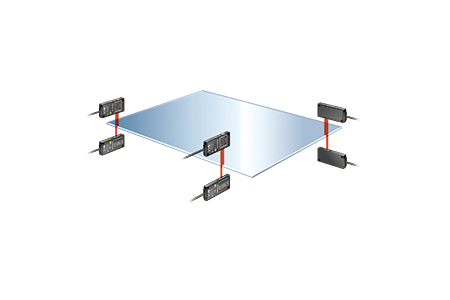 Glass substrate positioning