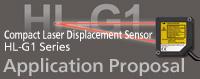 Compact Laser Displacement Sensor HL-G1 Application Proposal