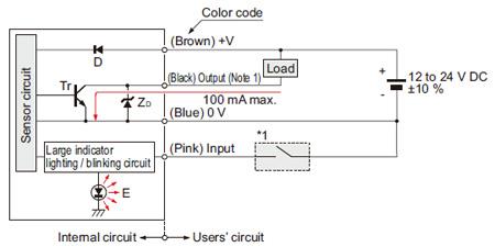 NPN çıkış tipi NA1-11 I / O devre şeması