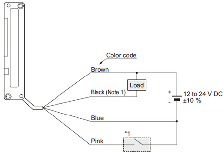 small slim object detection area sensor na1 11 i o circuit and npn output type na1 11 wiring diagram