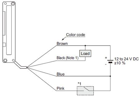 NPN çıkış tipi NA1-11 Bağlantı şeması