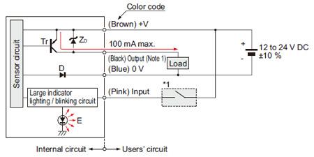 PNP çıkış tipi NA1-11-PN I / O devre şeması