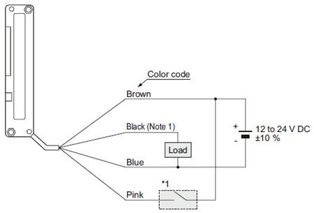 PNP çıkış tipi NA1-11-PN Bağlantı şeması