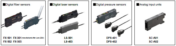 Models that can be connected to the SC-GU3-0□ (Use in combination with SC-71, with the exception of certain models) Sensors capable