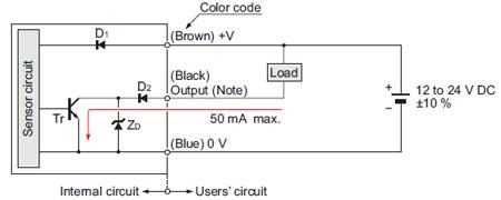 Ultraslim Photoelectric Sensor EX10 Ver2 IO    Circuit
