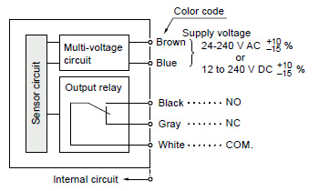compact multi voltage photoelectric sensor nx5 i o circuit and wiring diagrams automation
