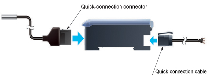 Labor-saving by one-touch connections