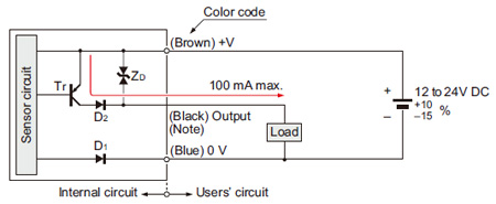 pic03 rectangular shaped inductive proximity sensor gx f h i o circuit wiring diagram for proximity sensor at gsmx.co