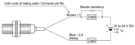 cylindrical inductive proximity sensor gx u gx fu gx n i o circuit wiring diagram