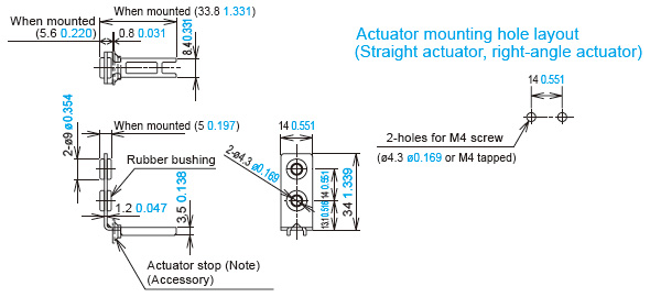Right Angle Actuator : Ultra slim safety door switch with solenoid interlock sg