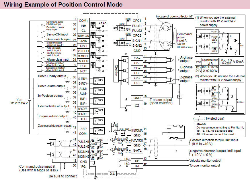 Minas A6 Family Wiring   Connection