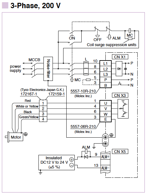 Minas E Series Wiring Connection Automation Controls